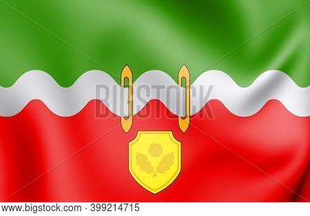 3d Flag Of Naro-fominsk (moscow Oblast), Russia. 3d Illustration.