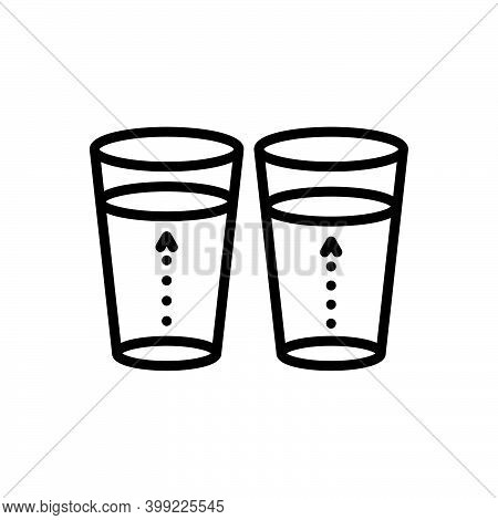 Black Line Icon For Slightly Little Frivolous Few Somewhat Marginally More-or-less Glass Water Insig