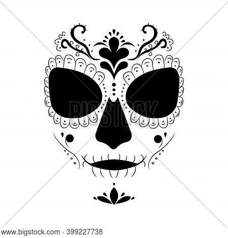 Death Image Of Santa Muerte. Modern Pagan Cult In Mexico.