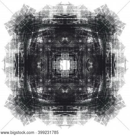 Fashion Square Ornament For Carpet, Pillow, Fabric, Textile. Interior Decorative Element, Design For