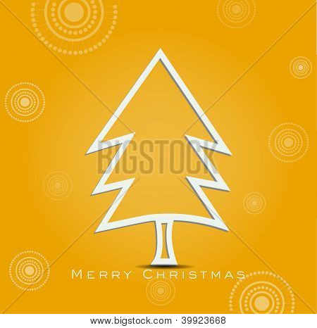 Christmas tree. Greeting card, gift card or invitation card for Merry Christmas. EPS 10. poster