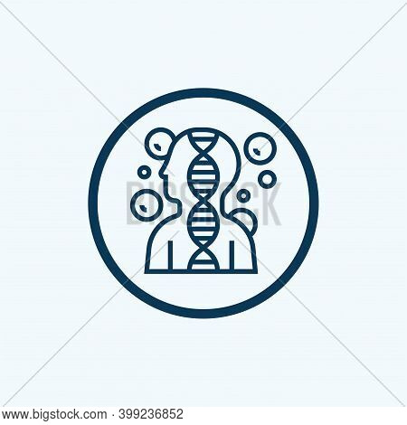 Genetic Icon Isolated On White Background From Chemistry Collection. Genetic Icon Trendy And Modern