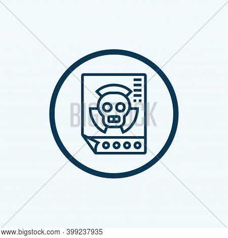 Radiation Icon Isolated On White Background From Cyber Security Collection. Radiation Icon Trendy An