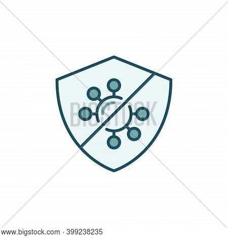 Virus Defence Vector Concept Colored Modern Icon Or Logo Element