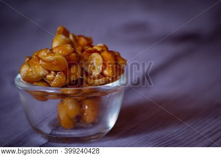 View Of Groundnut Balls(also Called As Chikki), Which Is A Popular Indian Sweet Made From Groundnut
