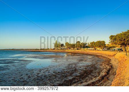 Moonta Bay Caravan Park At Sunset, South Australia