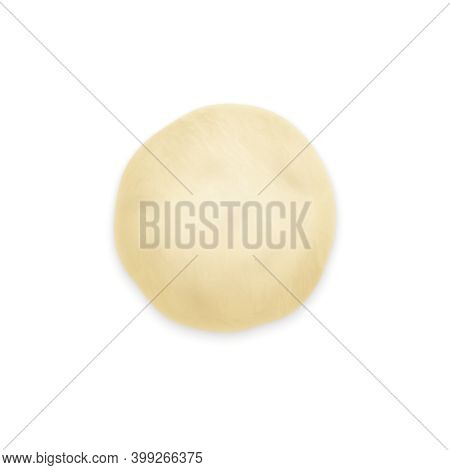Realistic Dough For Bread On White Background Vector Illustration