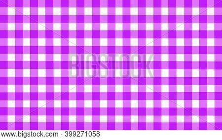 Bright Purple Pink White Lilac Vintage Checkered Background. Space For Graphic Design. Checkered Tex