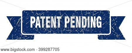 Patent Pending Grunge Vintage Retro Band. Patent Pending Ribbon