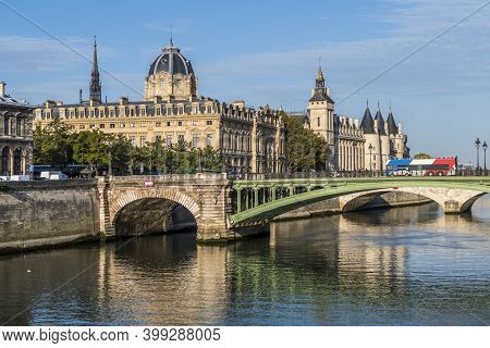 The Seine In Front Of The Conciergerie In Paris