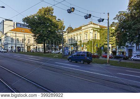 Street And Building At Old Town (stari Grad) In Belgrade, Serbia