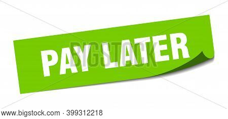 Pay Later Sticker. Pay Later Square Isolated Sign. Pay Later