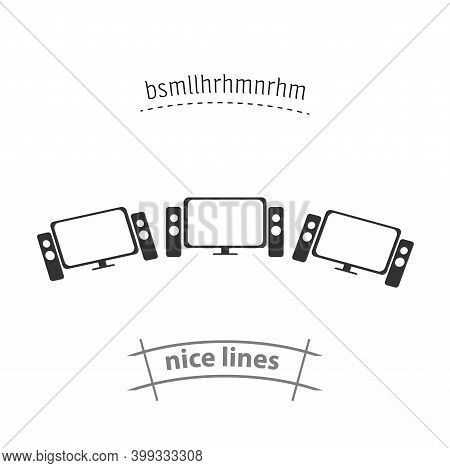 Home Theater Isolated Vector Icon. Household Appliances Design Element