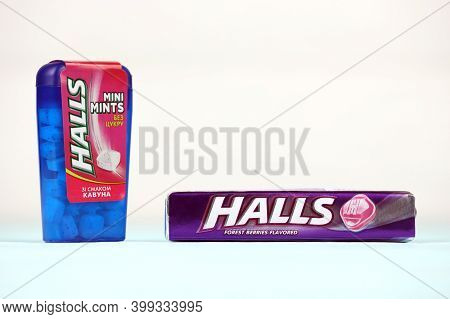Halls Forest-berries Flavored And Watermelon Taste. Halls Is The Brand Of A Popular Mentholated Coug