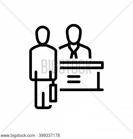 Black Line Icon For Appoint Nominate Employ Choose Job Consultant Staff Personnel Workers Crew Cadre