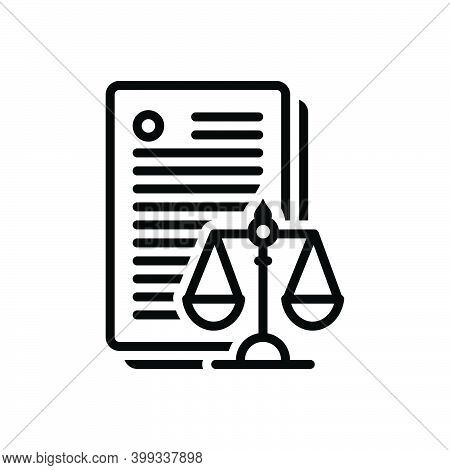 Black Line Icon For Laws Enactment Law-and-order Politics Justice Balance Verdict