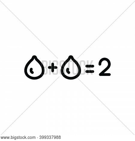 Black Line Icon For Sum Total Number Equal Entire Thorough Tally