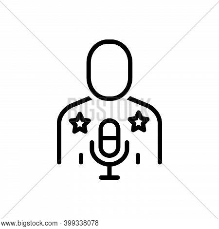 Black Line Icon For Idol Actress Celebrity Famous Hero Superstar Singer Favorite