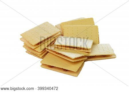 Isolated Thai Traditional Pineapple Stuffed Crackers On White Background