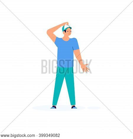Puzzled Young Man Throws Up His Hands In Disbelief Vector Illustration. Perplexed Guy Showing Doubt