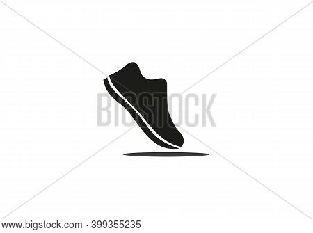 Athletic Shoe. Running Logo Vector Template With Shoe Concept. Shoe Icon Logo Vector