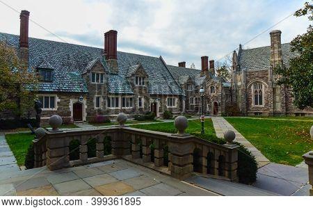 Princeton, Nj Usa - Novenber 12, 2019: Princeton University Is A Private Ivy League University In Ne