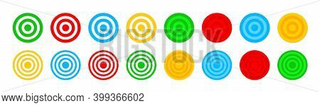 Target Icons. Dartboard With Goal. Accuracy Focus In Bullseye. Archery With Aim. Darts With Objectiv