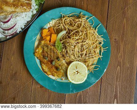 Italian Spaghetti Con Filetti Di Merluzzo