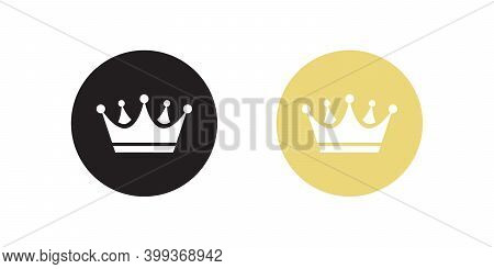Crown Icon Vector In Flat Style Isolated On White Background. Premium Symbol Illustration