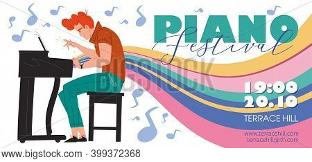 Vector Cartoon Flat Character Music Band, Jazz, Rock, Blues Stylish Banner Poster Web Online Concept