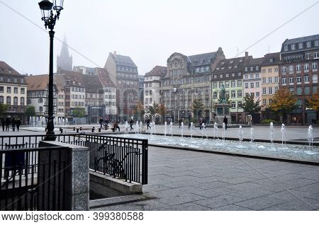 French People And Travelers Foreign Travel Visit And Walking Relax Shopping At Place Kleber Square W