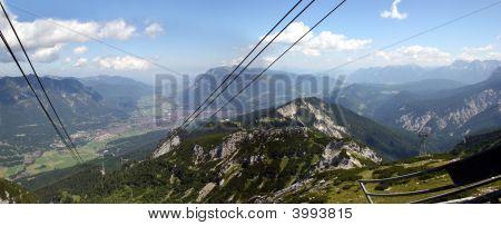 Garmisch-Partenkirchen, Seen From The Alpspitze Cable Car