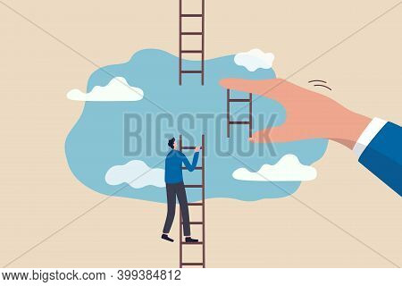 Helping Hand, Business Support To Reach Career Target Or Help To Climb Up Ladder Of Success Concept,