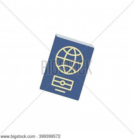 Biometric Passport Color Icon Vector. Simple Sign, Logo. Foreign Passport Icon. Visa, Document, Arri