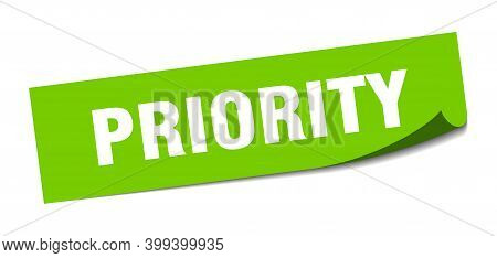 Priority Sticker. Priority Square Isolated Sign. Priority