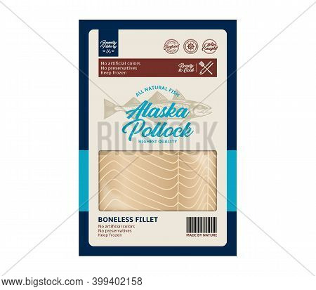 Vector Alaska Pollock Packaging Design