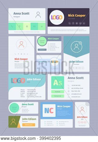 Forms For Email Signature. Business Card For Email Authors Emailer Designs Web Ui Garish Vector Temp