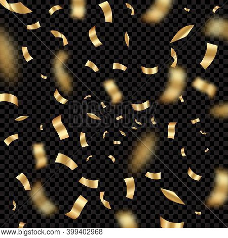 Confetti Explode. Holiday Party Festival Background With Serpentine Award Congrats Birthday Decent V