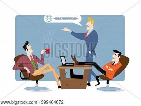 Entrepreneurship Funding, Business Contract, Idea Financing. Vector Illustration