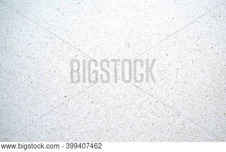 Terrazzo Flooring Background. White Texture And Surface Of Terrazzo Floor.