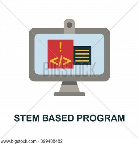 Stem Based Program Flat Icon. Color Simple Element From Stem Education Collection. Creative Stem Bas