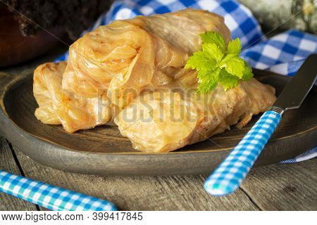 Delicious Homemade Stuffed Cabbage Leaves. Belarusian Traditional Dish