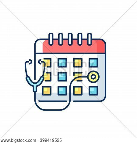 Consultation Time Rgb Color Icon. Primary Care Doctor Visit. Physician Workload. Clinical Examinatio