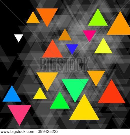 Abstract Geometric Background With Polygonal Triangles. Vector Illustration