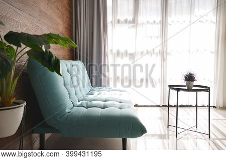 Portrait Clean Comfortable And Tidy Modern Living Room Space