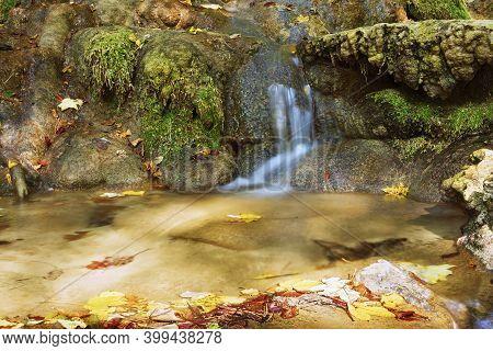 Detail Of Mountain Stream In Cheile Nerei Beusnita National Park, Romania