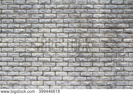Retro Brick Wall Old Texture, Great Design For Any Purposes. Gray Grunge Texture Background. Stock P