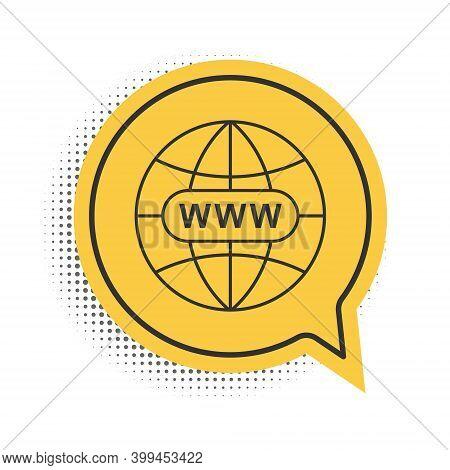 Black Go To Web Icon Isolated On White Background. Www Icon. Website Pictogram. World Wide Web Symbo