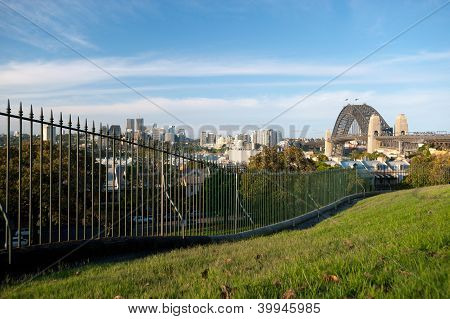 North Sydney And Harbour Bridge