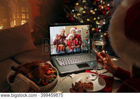 Celebrate Christmas Online During Quarantine Regulations And Lockdown.